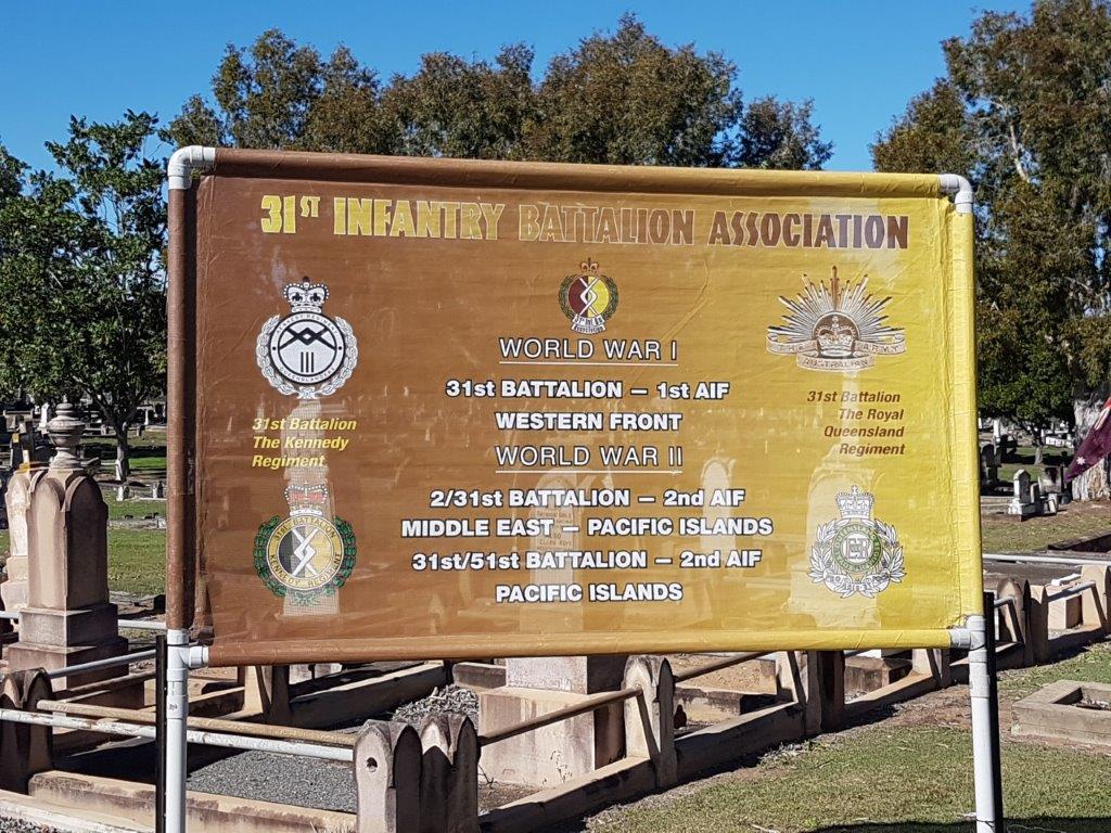 31st Battalion Association Banner - Ipswich Cemetery