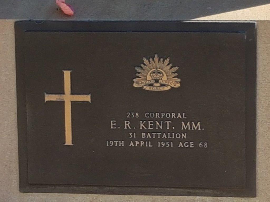 Grave of Cpl Edward Kent MM Ipswich Cemetery
